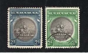 Bahamas - SG# 131 & 132 Used / brownish black center   -   Lot 0420268
