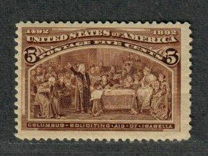 US Sc#234 M/F-VF+, Jumbo, Cv. $140