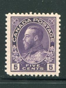 Canada #112a   Mint NH VF   - LSP
