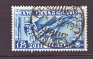 J22590 Jlstamps 1936 italy hv of set used #358 map of italy