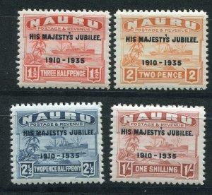 NAURU 1935 GV SILVER JUBILEE SET SCOTT 31-34 SG 40-43 PERFECT MNH
