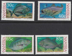 Namibia #755-8 MNH set, various fish, issued 1994