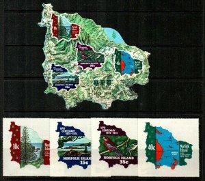 Norfolk Island Scott 181-4,184a Mint NH (Catalog Value $26.10)