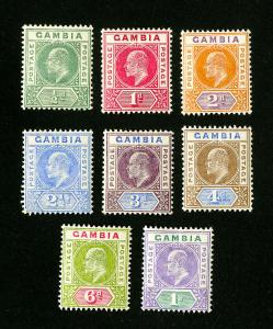 Gambia Stamps # 28-35 VF OG H Set of 8 Scott Value $179.50
