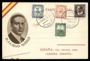 Spain Spanish Civil War Locals DJ Calvo Sotelo Patriotic Cover 99917
