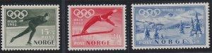 Norway B50-B52 MNH (1951)