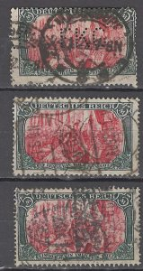 COLLECTION LOT OF #1162 GERMANY  # 95*3 1905 CLEARANCE STUDY
