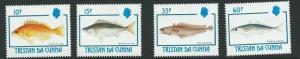 TRISTAN DA CUNHA SG531/4 1992 FISH MNH