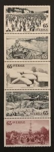 Sweden 1973 # 994-98, Booklet Pane, MNH, CV $2
