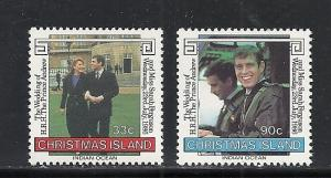 Christmas Island #187-8 comp mnh Scott cv $1.45