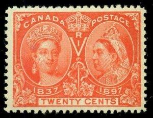 CANADA #59, 20¢ vermillion, og, LH, XF