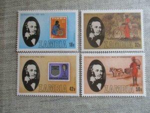 Zambia, Scott#204-207, MNH