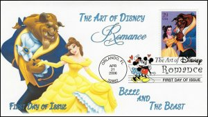 AO-4027-1, 2006, The Art of Disney, Add-on Cover, First Day Cover, DCP, Beauty