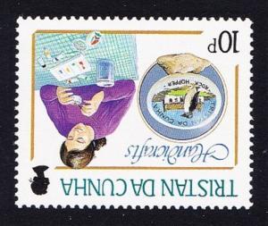 Tristan da Cunha Handicrafts 10p Watermark variety SG#448w SC#425