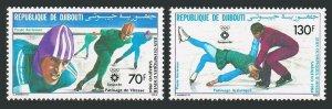 Djibouti C190-C191,MNH.Michel 392-393. Olympics Sarajevo-1984.Skating.