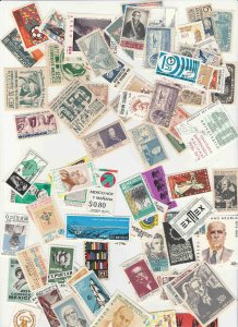 MEXICO 100 DIFFERENT MOSTLY COMMEMS, MINT & USED F-VF