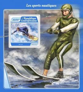 Central Africa - 2017 Water Sports - Stamp Souvenir Sheet - CA17513b