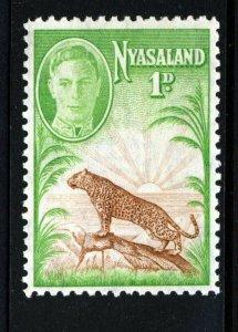 NYASALAND King George VI 1947 1d Brown & Green Symbol of Protectorate SG 160 MNH
