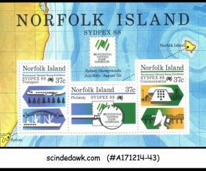 NORFOLK ISLANDS - 1988 BICENTENNIAL NATIONAL STAMP EXHIBITION SYDPEX 88 MIN/SHT