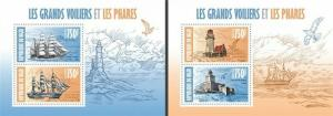 Niger - 2013 - Ships and Lighthouses-2 Sheets of 2 Stamps Each 14A-246