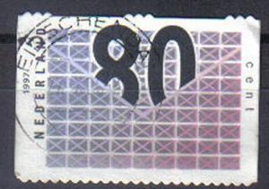 NETHERLANDS, 1997, used 80c, Business Stamps. DIFFERENT CANCELS EACH