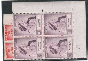 Pitcairn Islands #11 - #12 Very Fine Never Hinged Block Set