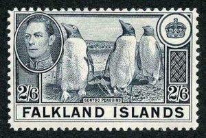 Falkland Is SG160 1938 2/6 Slate M/M Cat 60 pounds
