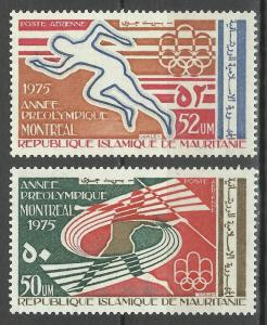 Mauritania 1975 Olympic Games Montreal 1976 Canada Sports Javelin Race Stamps