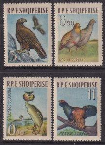 1963 Albania Birds complete set MLH Sc# 672 / 675 CV $19.50