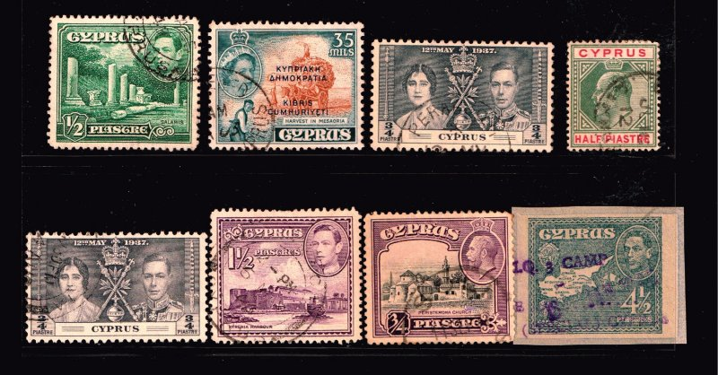 UK STAMP CYPRUS USED STAMP COLLECTION LOT
