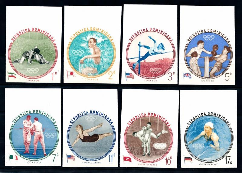 [46402] Dominican Rep. 1960 Olympic games Melbourne Wrestling Fencing Imperf MNH