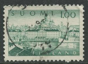Finland - Scott 410 - South Harbour Helsinki -1963- Used - Single 1m Stamp