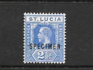 ST LUCIA  1912-21   2 1/2d  KGV   MH  SPECIMEN     SG 81bs