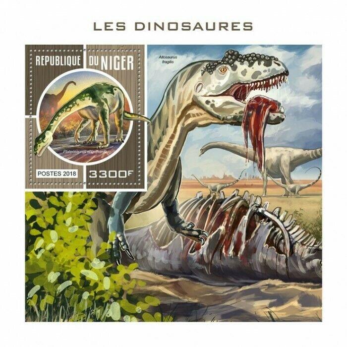 HERRICKSTAMP NEW ISSUES NIGER Dinosaurs S/S
