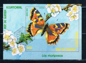 Equatorial Guinea Butterfly Souvineer Sheet Used (E0001)+
