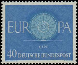 1960 Germany #818-820, Complete Set(3), Never Hinged