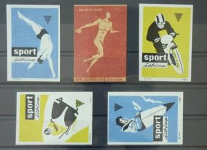 Match Box Labels ! sport olympic games athletics race handball GN14