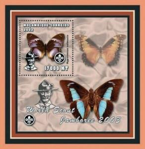 Mozambique - Butterflies -  Stamp S/S  - 13A-141