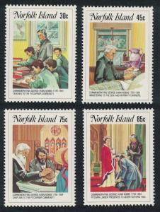 Norfolk Death Centenary of Revd Nobbs 4v SG#352-355 SC#352-355