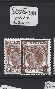 MALAYA  MALACCA  (PP1605B)  QEII  MALACCA 4C SG 25-25A  MNH