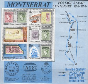 Montserrat, Sc 332a. MNH, 1976, Stamps on Stamps