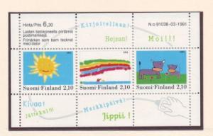 Finland Sc 871 1991 Childrens Design stamp sheet mint NH