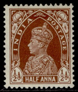 INDIA GVI SG248, ½a red-brown, M MINT. Cat £10.