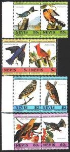 Nevis. 1985. 252-59. Birds, fauna. MNH.