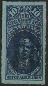 USA Scott TA 8? Series of 1910 Cigarette Tax Paid 10