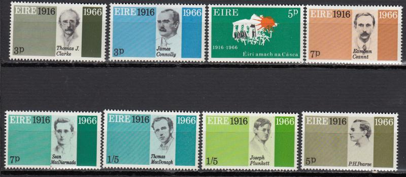 Ireland - 1966 Easter Week Rebellion Sc# 206/213 - MNH (1252)