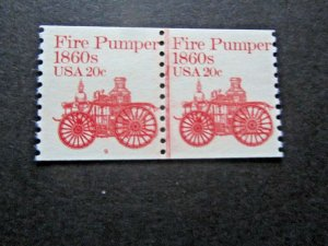 1981 Fire Pumper, Line Pair & #9 Plate Number, Mint, VF, NH, #1908