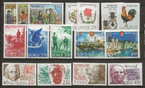 Norway 7 cpl sets [nh]
