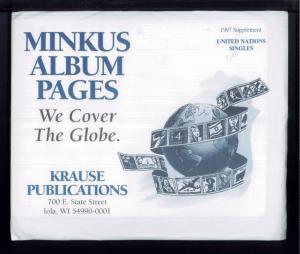 1997 United Nations Singles Minkus Stamp Album Supplement Pages