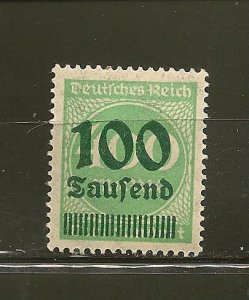 Germany 254 Surcharged MNH
